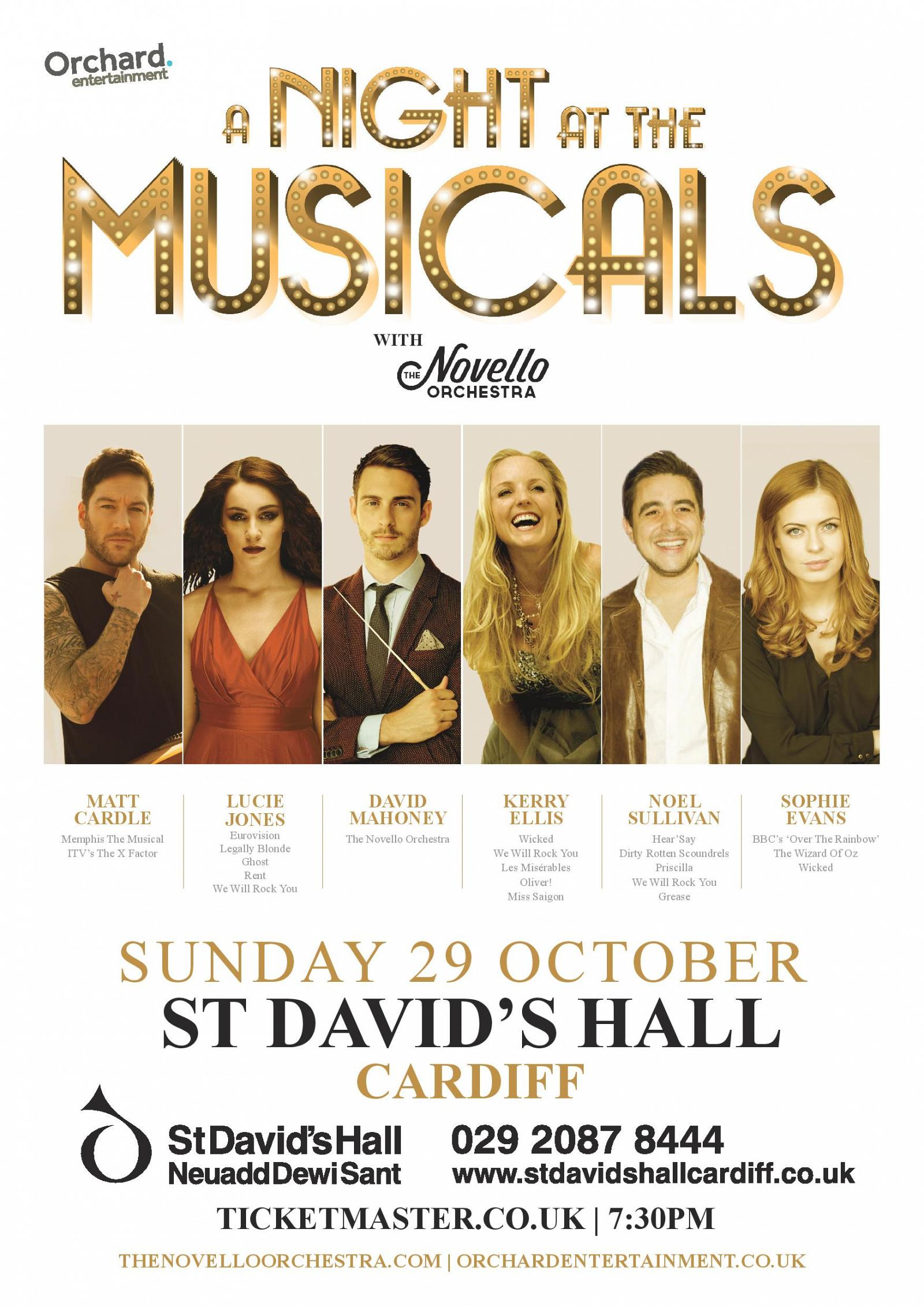 A Night at the Musicals at Cardiff's St David's Hall