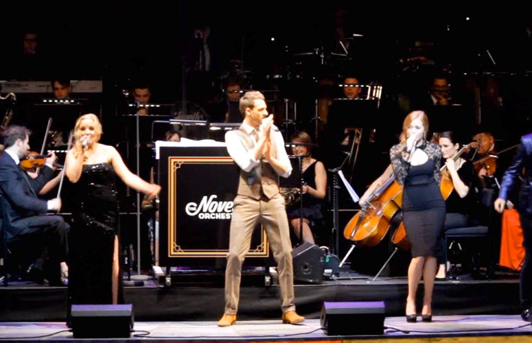 KERRY ELLIS, DAVID MAHONEY AND SOPHIE EVANS